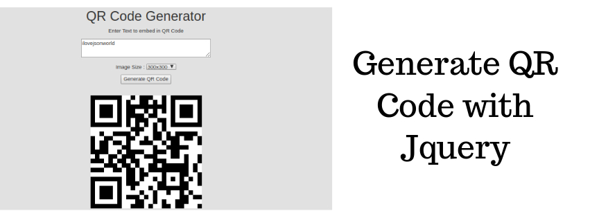 Generate QR Code in JQuery | JSON World