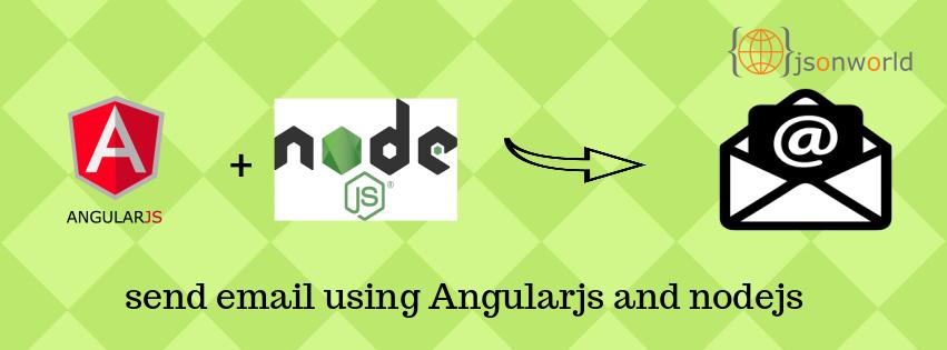 Send email using angularjs and nodejs nodemailer module