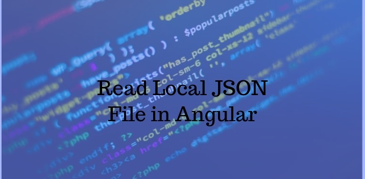 How to Read Local JSON file in Angular