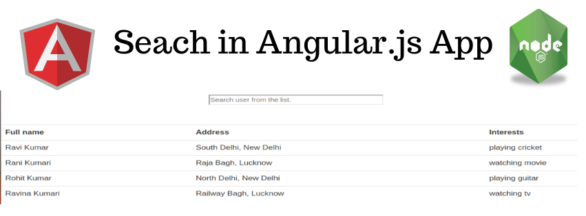 Search in Angularjs app