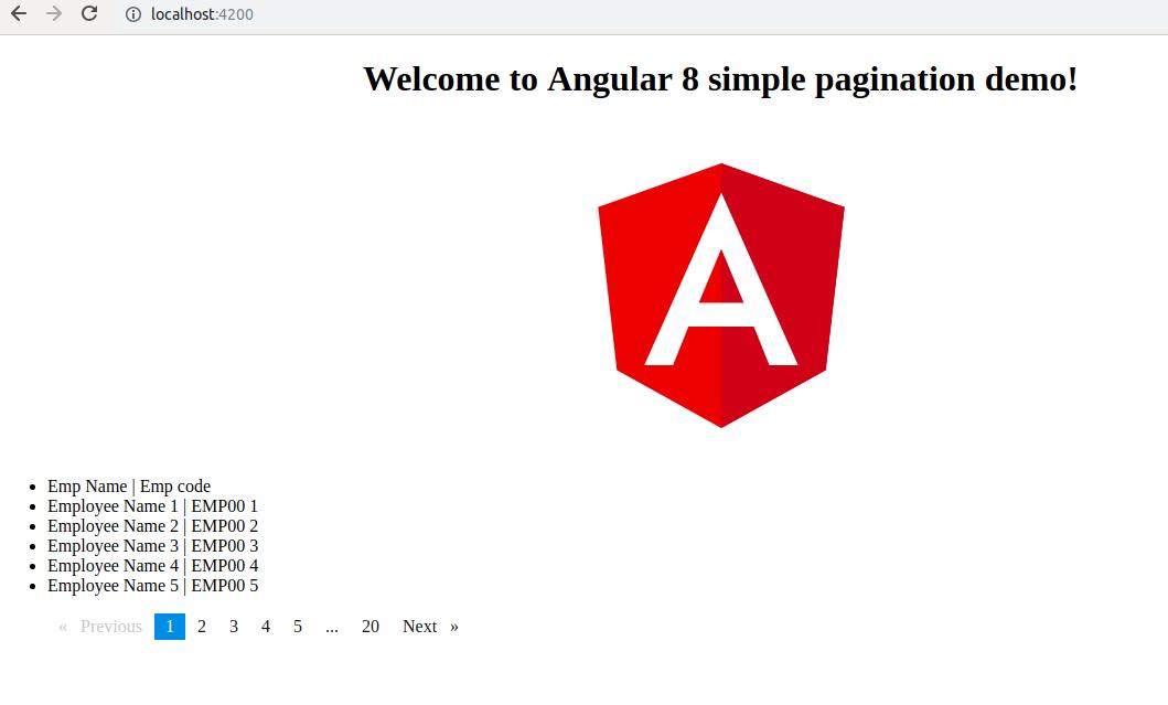 Angular 8 Pagination Example and Tutorial