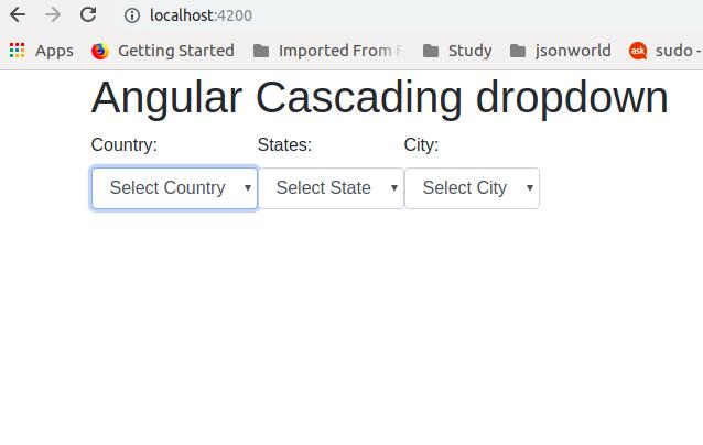 Cascading dropdown in Angular   JSON World