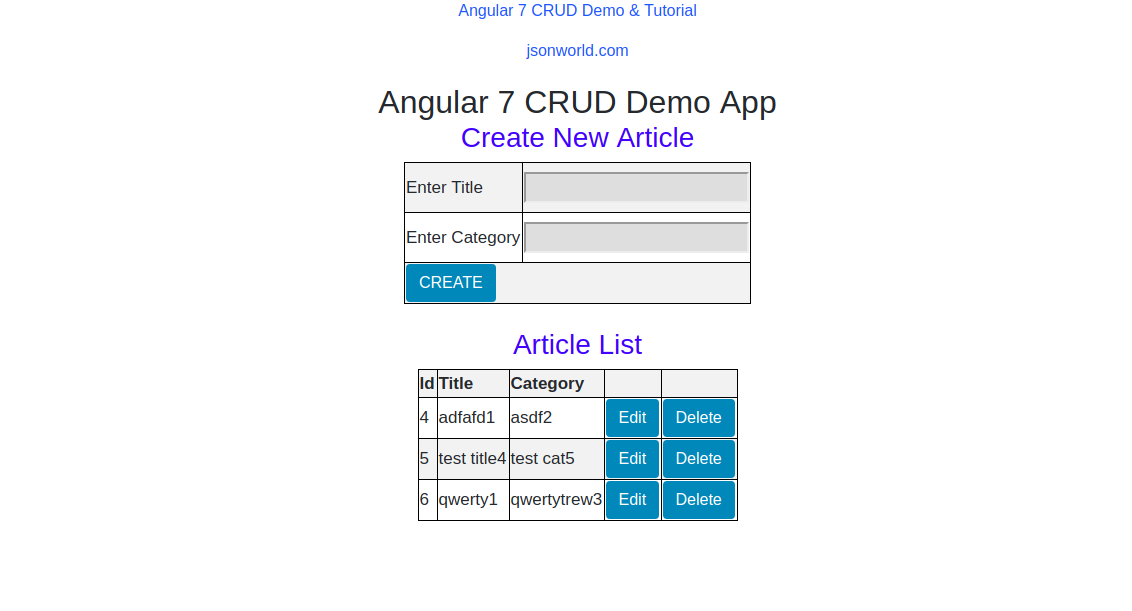 Angular CRUD with Nodejs and MySQL Example