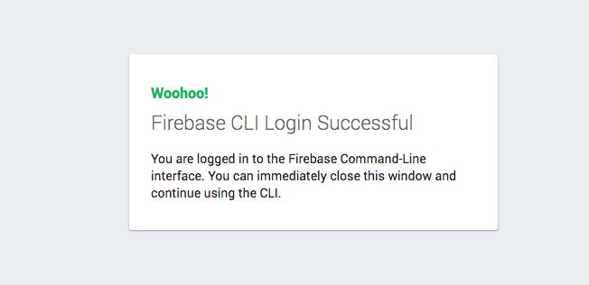 Fire login success message